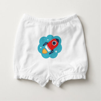 Diaper bloomers with Little Rocket Diaper Cover