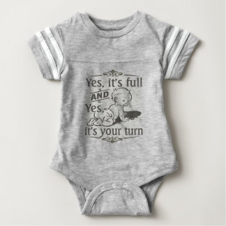 Diaper Changing Humor Baby Bodysuit