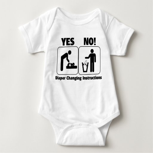 Diaper Changing Instructions Baby Bodysuit