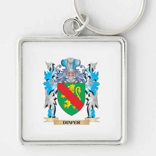 Diaper Coat of Arms - Family Crest Keychains
