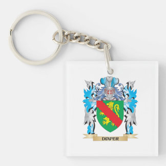 Diaper Coat of Arms - Family Crest Square Acrylic Key Chain