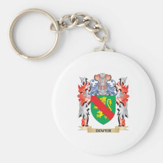 Diaper Coat of Arms - Family Crest Keychain