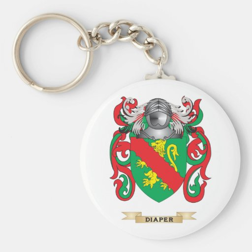 Diaper Coat of Arms Key Chains