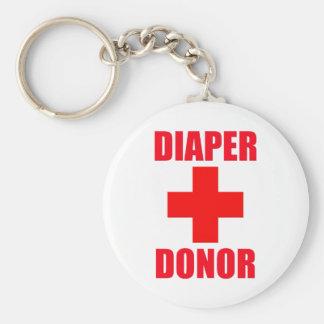 Diaper Donor Baby Basic Round Button Keychain