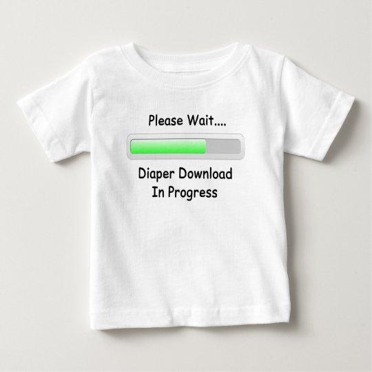 Diaper Download Baby T-Shirt