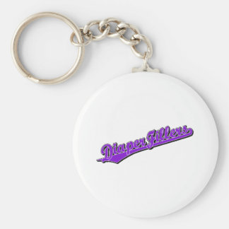 Diaper Fillers in Purple Basic Round Button Keychain