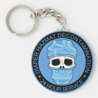 Diaper Hazmat Decontamination Basic Round Button Keychain