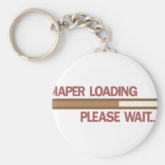 Diaper Loading Please Wait.... Basic Round Button Keychain