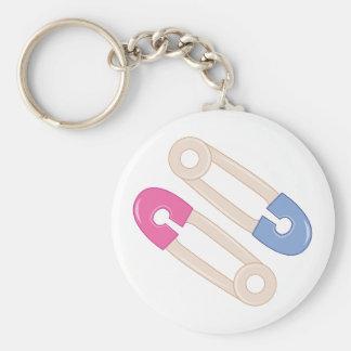 Diaper Pins Basic Round Button Keychain
