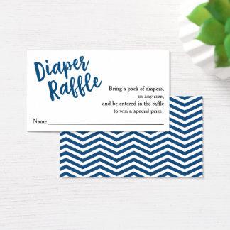 Diaper Raffle Ticket-Blue Script Business Card