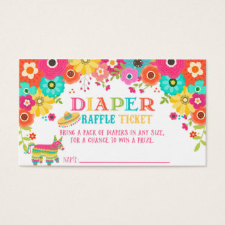Diaper Raffle Ticket- Fiesta Theme Business Card
