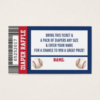 Diaper Raffle Ticket, Sports, Baseball Baby Shower Business Card