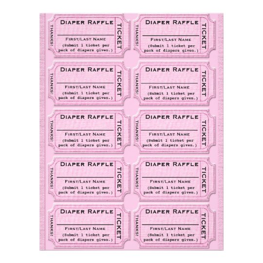 Diaper Raffle Ticket Template Full Color Flyer