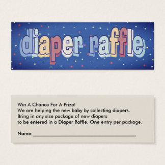 Diaper Raffle Tickets Baby Shower Game