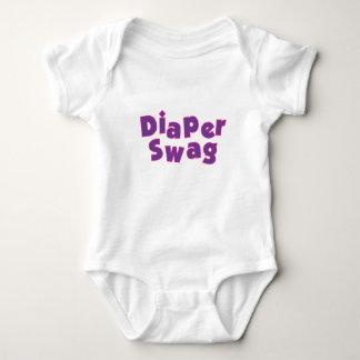 Diaper Swag Purple Baby Bodysuit
