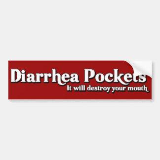 Diarrhea Pockets Mr. Funny  Parody Bumper Sticker