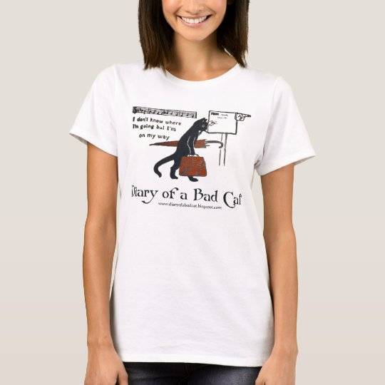 Diary of a Bad Cat T-Shirt (Vintage Black Cat)