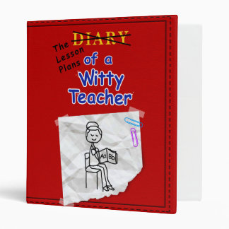Diary of a Witty Teacher Lesson Plan Binder