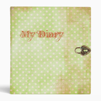 Diary with Graphic Heart Lock Vinyl Binder