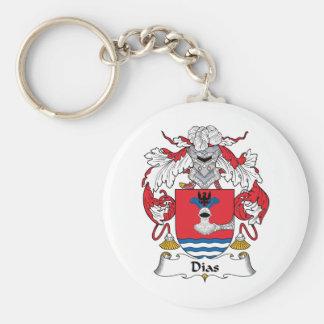 Dias Family Crest Basic Round Button Keychain