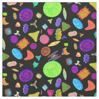 Diatoms Psychedelic Fabric