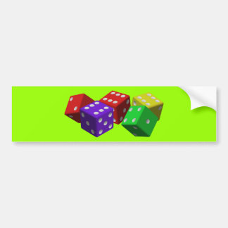 dice-161377  dice game luck gambling cubes red vio bumper stickers