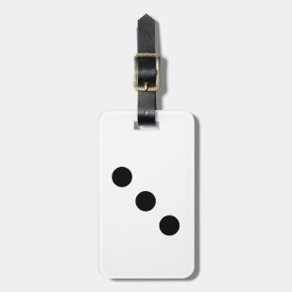 Dice 3 bag tag