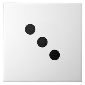 Dice 3 ceramic tiles