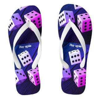 Dice 3D Flip Flops