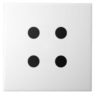 Dice 4 ceramic tile