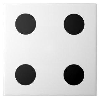 Dice 4 ceramic tiles
