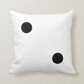 dice 5 and dice 2 throw pillow