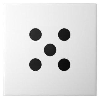 Dice 5 ceramic tile