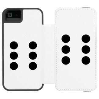 Dice 6 incipio watson™ iPhone 5 wallet case