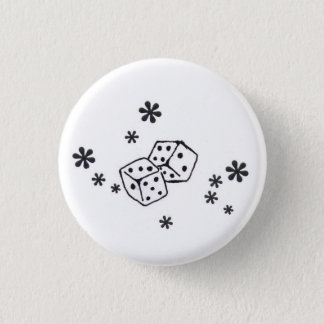 Dice Badge 1 Inch Round Button