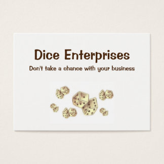 Dice Business Card for Entrepreneur Consultant
