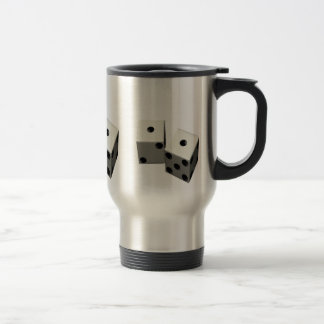 dice, dice, dice travel mug