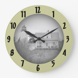 Dice/Dyce Head Lighthouse Maine Sketch Wall Clock