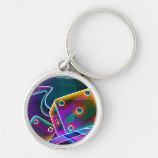 Dice flashy 3D Keychain