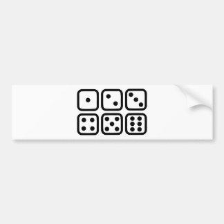 Dice gambling bumper stickers