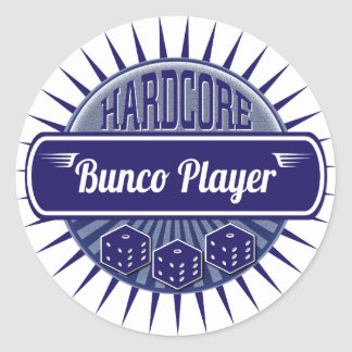 Dice Hardcore Bunco Party Retro VIntage Player Classic Round Sticker