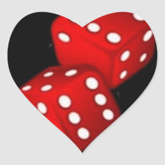 DICE HEART STICKER