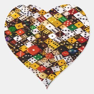 Dice Heart Sticker