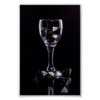 Dice in Glass poster (Black)
