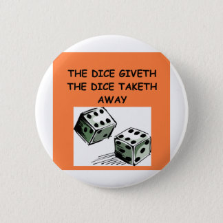 dice joke 2 inch round button