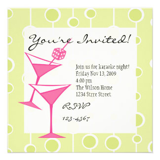 Dice Martini Personalized Invitation