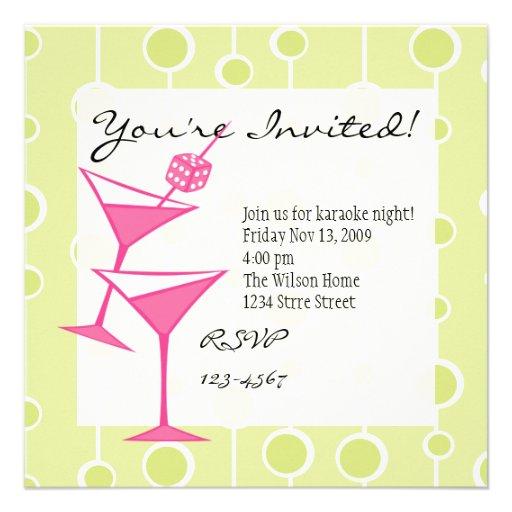 Dice Martini Personalized Invitation