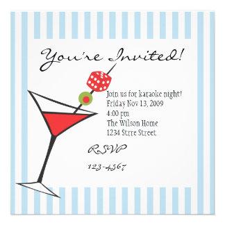 Dice Martini Invites