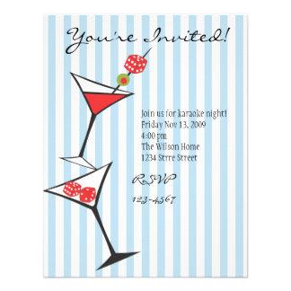 Dice Martini Invitations