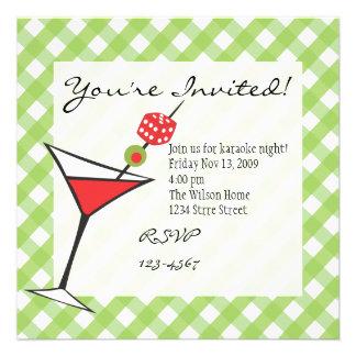 Dice Martini Custom Invitations